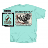 Men's Southern Strut Turkey Stamp Short Sleeve T-Shirt by Red Horse Screen Printing