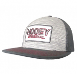 Hooey Original Embroidered Logo Gray and Red Trucker Hat by Hooey