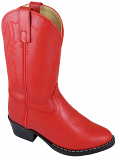 Kid's Red Leather Western Boots by Smokey Mountain