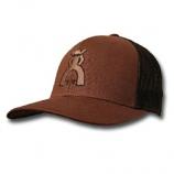 Brown and Black Punchy Peeler Brown Mesh Trucker Hat by Hooey
