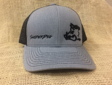 Grey and Black Sniper Pig Snapback Hat by Oil Field Hats, LLC