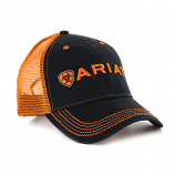 Men's Black/Orange Ball Cap by Ariat