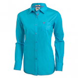 Women's Kirby Solid Turquoise Long Sleeve Shirt by Ariat