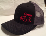 Black and Red Sniper Pig Snapback Hat by Oil Field Hats, LLC