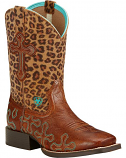 Kid's Leopard Crossroads Boot by Ariat