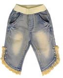 Girl's Denim Lace Trim Capri by ML Fashions Inc.
