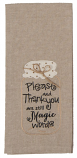 Magic Words Embroidered Tea Towel by Kay Dee Design