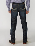Men's Dark Blue Contrast Stitch Jean by Stetson