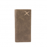 Men's Twisted X Distressed Bomber Brown Wallet by Western Fashion