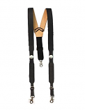 Men's Black Suspenders with Buffalo Nickle Concho Galluse by Nocona Belts