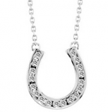 Sterling Silver Horseshoe Pendant and Necklace by Kelly Herd