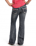 Girl's Low Rise Slim Fit Boot Cut Jeans by Rock and Roll Cowgirl
