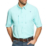 Men's Venttek Performance Short Sleeve Button Down Shirt Available in Mulitple Colors by Ariat