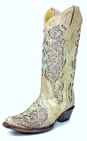 Women's Glitter & Crystal Inlay Boot by Corral