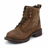 Women's Gypsy Aged Bark Steel Toe Work Boot by Justin