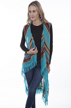 Women's Long Fringe Sweater Vest by Scully