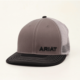 Men's Black and Gray Logo Ball Cap by Ariat