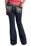 Girl's Arrow Stitched Boot Cut Jeans by Rock and Roll Cowgirl