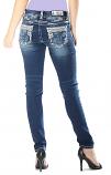 Girl's Dark Wash Skinny Jeans by Garce in LA