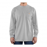 Men's Flame-Resistant Cotton Long Sleeve T-Shirt by Carhartt Force