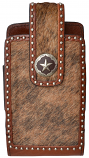 Large Brown Steel Star Concho Smartphone Holder by 3D