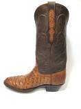 Men's Full Quill Ostrich Boots in Burnished Cigar by Black Jack