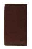 Rodeo Perforated Edge Shield Wallet in Dark Copper by Ariat