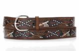 "Men's Nocona 1 1/2"" Rebel Flag Belt by M&F Western Products, Inc."