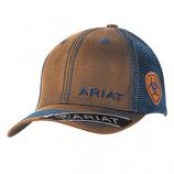 Men's Blue and Orange Oilskin Logo Ball Cap by Ariat