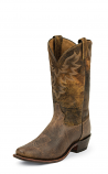 Men's Leather Jaws Snip Toe Stitched Tan Western Boot by Tony Lama
