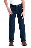 Boy's Original Fit Dark Washed Wrangler Jeans