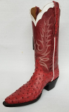 Women's Red Maddog Full Quill Ostrich Boots by Black Jack