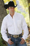 Men's Black or White Solid Button Down by Cinch