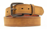 Men's Brown Dristressed Leather Belt by Ariat