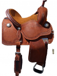 "13"" Sherry Cervi Crown C Chestnut Barrel Saddle by Martin Saddlery"