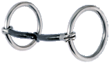 "Loose Ring Snaffle- 3/8"" Smooth Sweet Iron"