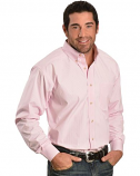Men's Long Sleeve Pink and White Striped Balin Shirt by Ariat