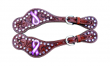 Susan G Komen Breast Cancer Spur Straps by Bar H Equine
