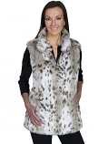 Women's Reversible Cream Leather and Leopard Vest by Scully