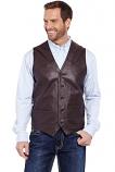 Men's Button Front Lamb Nappa Vest by Cripple Creek