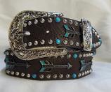 "Women's 1 1/2"" Arrow Embellished Ladies Fashion Belt by Angel Ranch"