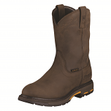 Men's Oily Distressed Brown Workhog H2O Boot by Ariat