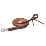 Working Cowboy Roper Reins with Stainless Steel Scissor Snap by Weaver
