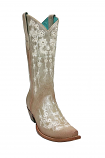 Women's Bone & Cream Embroidered Crystal Boot by Corral