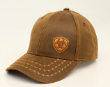 Men's Barbwire Oilskin Ariat Ball Cap by M&F