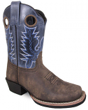 Kid's Mesa Brown Oil Distress/Navy Crackle Boot by Smoky Mountain