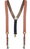 Men's Brown Suspenders with Galluse Shotgun Shell by Nocona Belts