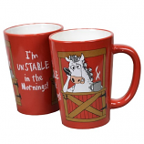 """I'm Unstable in the Morning"" Mug by Lazy One"