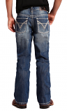 Boy's BB Gun Boot Cut Jeans with V Embroidery by Rock and Roll Cowboy