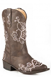 Kid's Brown Flower Sparkles Boot by Roper